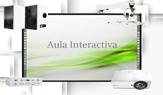 aula interactiva con pizarra 79 y proyector vivitek dx881