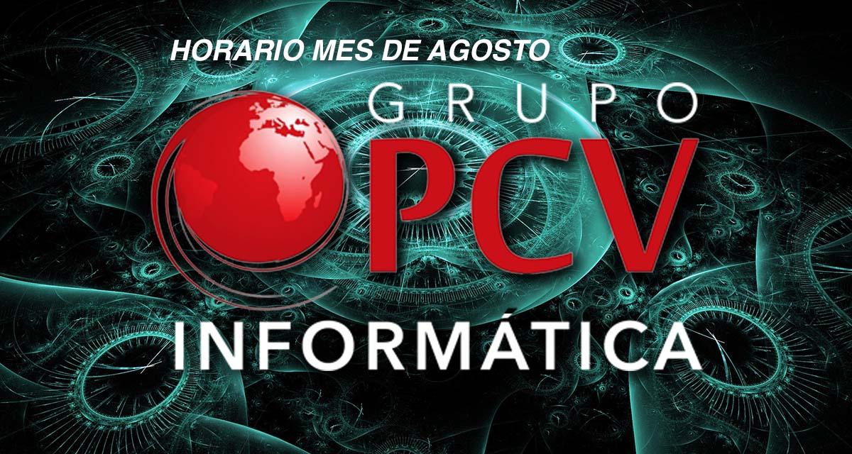 Horario agosto Grupo PCV Informatica